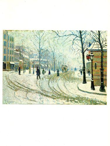"""1977 Vintage IMPRESSIONISM /""""BOULEVARD DE CLICHY IN PARIS/"""" PAUL SIGNAC Lithograph"""