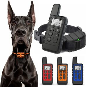 Electric-Pet-Dog-Shock-Training-Collar-875-Yard-Remote-Waterproof-Rechargeable