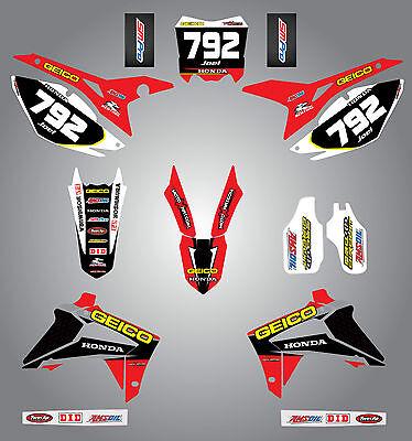 Honda CRF 250 - 2014 - 2015 Full  Custom Graphic  Kit - Sonic Style sticker kit