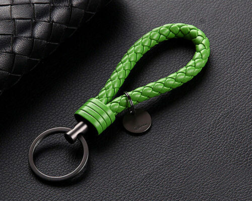 Wholesale Leather Rope Strap Weave Keychain Keyring Car Key Chain Ring Gift