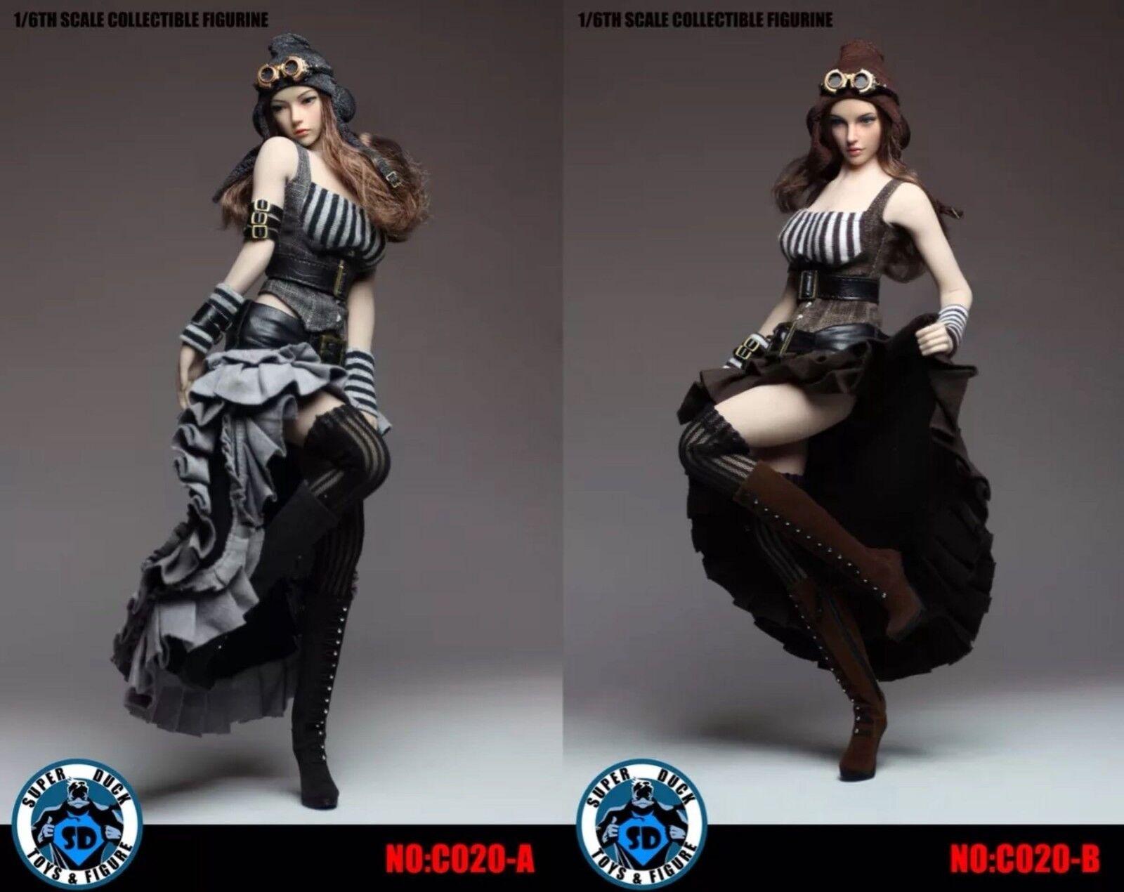 SUPER DUCK C020 1 6  Female Steam Punk Dress CMassehes Set Fit 12'' Figure