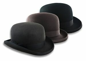 ab58a907241 Low Crown Derby Hat Scala Bowler Wool Chaplin Coke Billycock Size ...