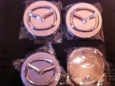 MAZDA ALLOY WHEELS CENTRE CAP SET (4) SILVER DIAMETER 56 mm