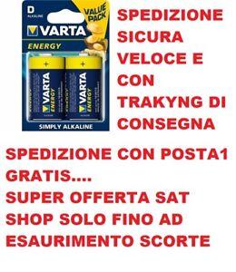 2 BATTERIE TORCIA TORCIONE MN1300 D VARTA ALKALINE 1.5V