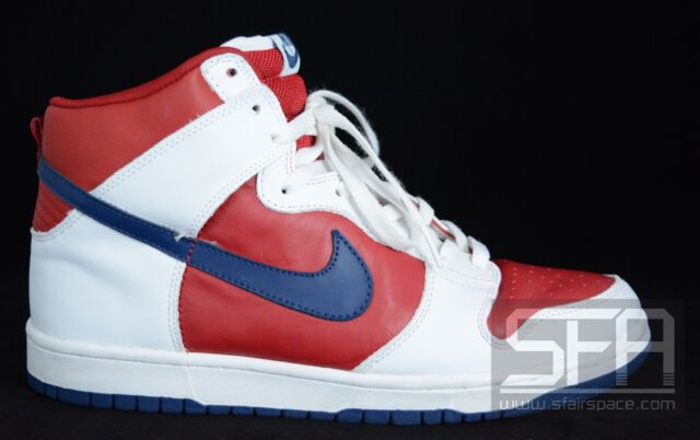 blue and red nike dunks