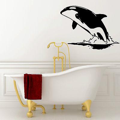 KILLER WHALES JUMP ORCA OCEAN SEA ROOM NURSERY OFFICE WALL STICKER ART MURAL XP9