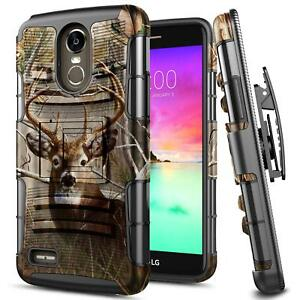 new arrival b94d8 96caa Details about For LG Stylo 3/Stylo 3 Plus Case Shockproof Belt Clip Holster  Kickstand Cover