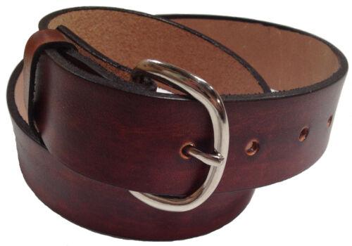 Mens Handmade Leather Belt Work Casual Heavy Duty Belt Brown or Black USA Made