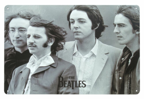 The Beatles Classic Pop Music Retro Wall Sign Steel Plaque Bar Gift 20 x 30cm