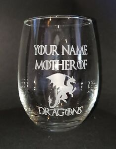 Personalized-Game-of-Thrones-stemless-wine-glass-Mother-of-Dragons