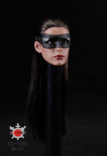 """Head Sculpt 1:6 Scale Anne Hathaway Catwoman SO-017 Model F//12/"""" Action Figure"""