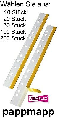 200 Stück VELOFLEX Heftstreifen selbstklebend Heftfix® DIN A4 glasklar