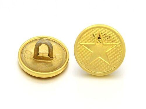 Antik Stern Knöpfe Vintage gold 5 Metallknöpfe messing