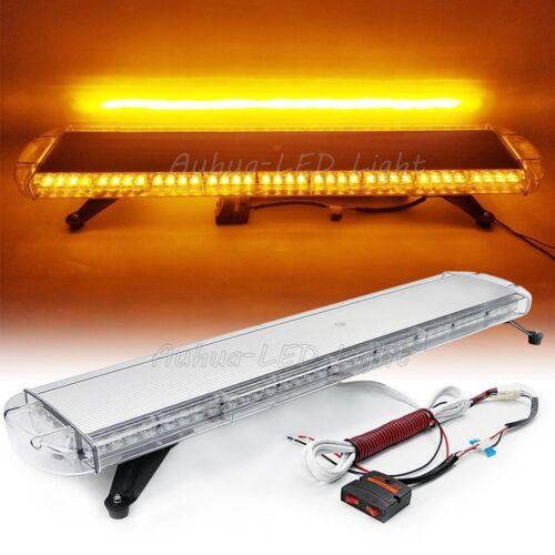 """42/"""" 80W LED Strobe Light Bar Warning Emergency Beacon Roof Wrecker Trucks Amber"""