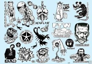 Kozik-Dirty-Donny-DECALS-Water-Slide-2-Sticker-Uncut-Roth-Like