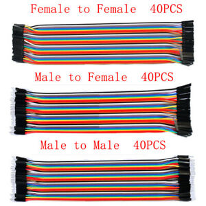 10-20-30CM-40PCS-Pin-Dupont-Wire-Line-Ribbon-M-F-M-M-F-F-Jumper-Cables-Arduino