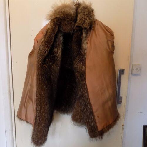 Taille 14 femmes brune fourrure Veste véritable 12 en pour nPqYp8A