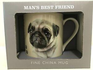 PUG MUG ~ LEONARDO DOG BREED RANGE ~NEW ~ GIFT BOXED