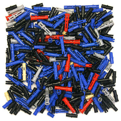 Lego Technic - Pegs Pins Clip - Selection of 320 Parts - Black Blue Grey - NEW