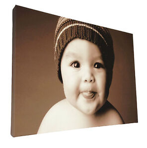 Your Picture Image Photo On Personalised Box Canvas Size A0 A1 A2 A3 A4 A5 A6