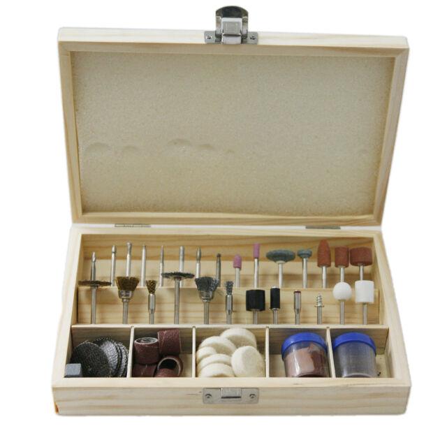 "100pc Rotary Tool Accessory Bit Bits Set 1/8"" For Dremel Jeweler Gunsmith w/case"