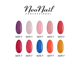 NeoNail UV Nagellack 7,2 ml -  50 Farben Rot Mint Violett Base Top Cleaner