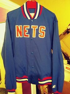 new products 1642c de7b5 Details about Vintage New Jersey Nets Throwback Warmup Starter Jacket XL  Mint! Rare