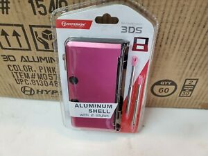 60-NEW-PINK-Aluminum-case-W-2-Retractable-Stylus-Pens-for-OLD-Nintendo-3DS-6B