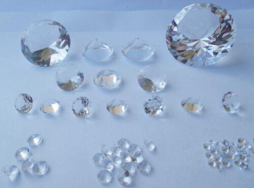 rund synthetisches Kristallglas 1 Glasdiamanten klar 20 mm Ø Facettenschliff