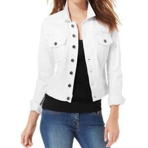 55d8757270e NWT Womens Ladies WHITE Denim JEAN JACKET (Medium   Large) - White ...