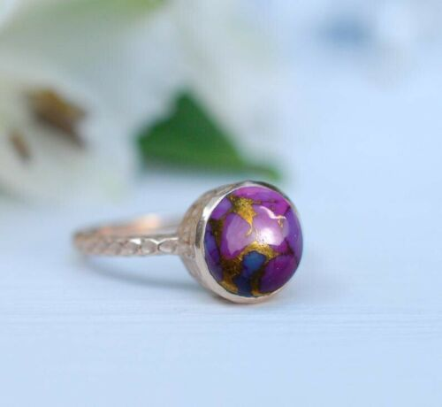 Details about  /Purple Copper Turquoise Ring Handmade Jewelry Women Turquoise Ring Gift For her