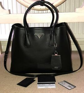 Image is loading Prada-double-tote-bag 780bb9785cdc2