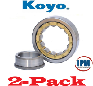 2-PACK-NEW-Koyo-NJ307C3-Single-Row-Cylindrical-Roller-Bearing-35-x-80-x-21mm