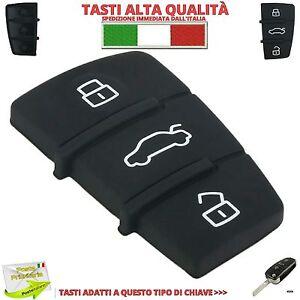Tasti-Pulsanti-Gomma-Cover-Per-Chiave-AUDI-A1-A3-A4-A6-A8-S3-S4-S6-TT-Q5-Q7-RS4