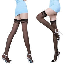 c8f1001bae1 Fashion Women Sheer Tights Stay Up Thigh High Stockings Over Knee Lace  Pantyhose