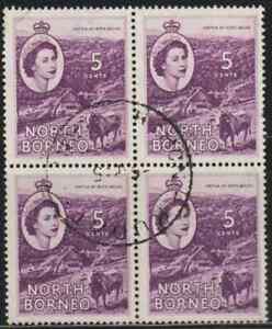 NORTH-BORNEO-1954-QE-II-PICTORIAL-DEFINITIVE-5c-B-4-FINE-USED