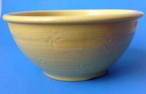"Vintage Shawnee Snowflake Yellow Mixing Bowl USA Pottery 9"""