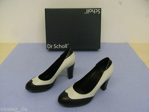 Scholl Kirsten Pumps Damenschuhe Black-off white Gr. 37