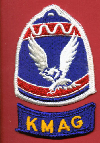 KOREAN MILITARY ADVISOR GROUP PATCH FULL COLOR WITH KMAG TAB