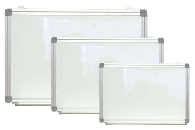 magnetic white dry erase board menu with marker pen tray menu sign 24 x 36 - Magnetic White Board