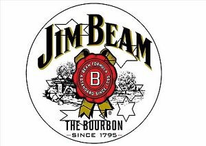 JIM-BEAM-DECAL-STICKER-LABEL-LARGE-250mm-DIA-9-8-INCH-DIA-HOT-ROD