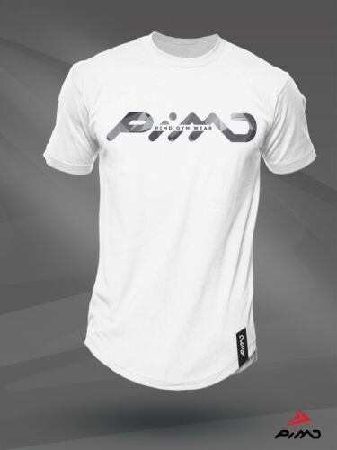 PIMD Poly White// Urban Camo Tee Fitness Workout Gym LONG SIZE T SHIRT Mens