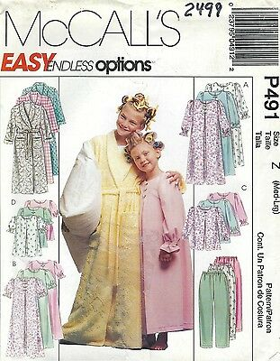 McCall/'s 8482  Girls/' Jumper in Two Lengths and Blouse   Sewing Pattern