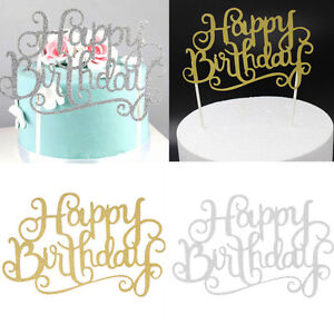 Image Is Loading 2Pcs Happy Birthday Candle Party Cake Topper SuppliesDecoration
