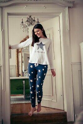 """LOUIS /& LOUISA  /"""" Sternenzeit /"""" Pyjama antrazit Sterne Gr S NEU"""