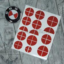 BMW Emblem Logo Aufkleber Ecken 1er 3er 4er M3 X1 X3 X5 rot metallic glänzend