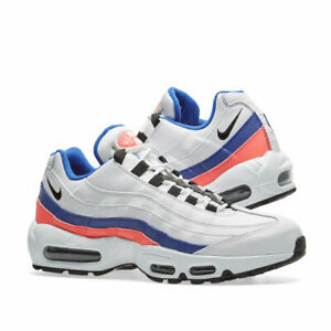 Men's Nike Air Max 95 Essential White Black Solar Red Ultramarine 749766 106 Boys Running Shoes 749766 106