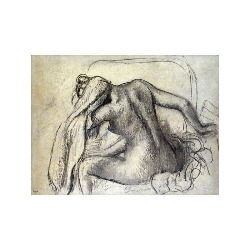 Quadro su Tela con Telaio Edgar La Degas La Edgar toilette 8ce0de