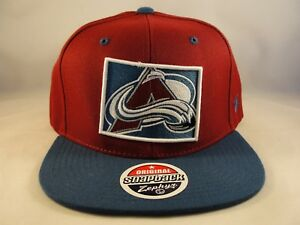 7413dce40ea Image is loading Colorado-Avalanche-NHL-Zephyr-Snapback-Cap-Hat-Statement