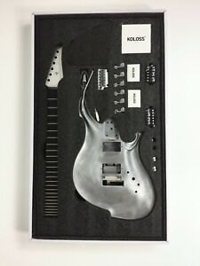 Koloss GT-4 Series Aluminum Alloy Electric Guitar DIY Kit - Satin Aluminum Color